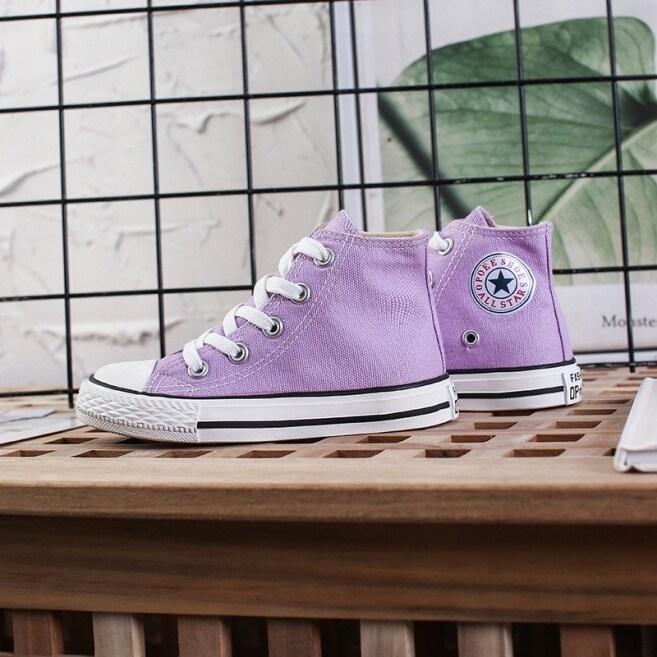 Giày Vải Trẻ Em Giày Cao Cổ Cho Bé Gái Giày Thể Thao Bé Trai Màu Trắng Giày Trắng 2020 Xuân Thu Mới giá rẻ