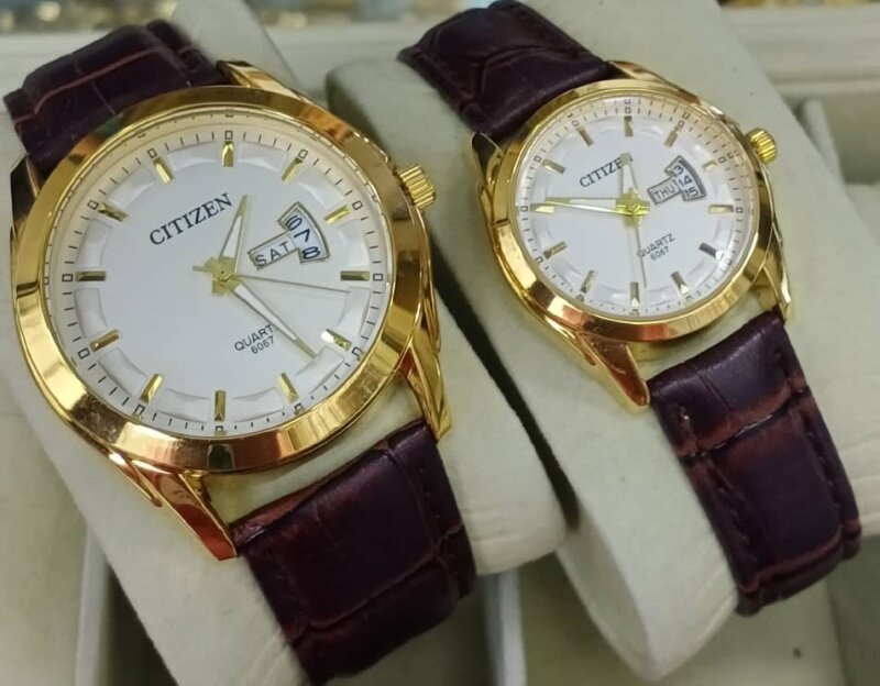 _CITIZEN _ANALOGUE STAINLESS LEATHER FOR MEN WATCH WOMENCOUPLE Malaysia