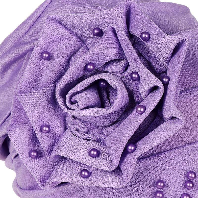 รีวิว (In Stock)MAKMW MALLผู้หญิงBeadingอินเดียหมวกมุสลิมRuffleมะเร็งหมวกคีโมผ้าพันคอTurban Wrap Cap
