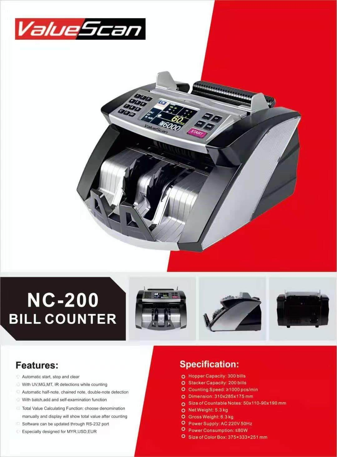 ValueScan NC-200 Cash Money Note Counting Machine