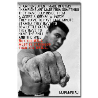In Và In Vải Muhammad Ali, Trích Dẫn Động Lực Tranh Nghệ Thuật Đấm Bốc Tranh Vải Bố Cho Phòng Ngủ Phòng Ký Túc Xá Trang Trí Nhà Cửa 1 Khung Bên Trong (Có Thể Tùy Chỉnh Dịch Vụ Khách Hàng Liên Hệ) thumbnail