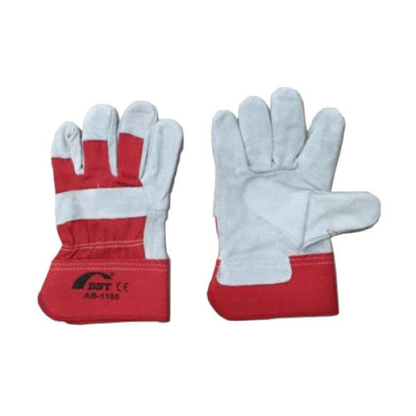BST 10.5 Rubberized Cuff Leather Hand Glove Heavy Duty
