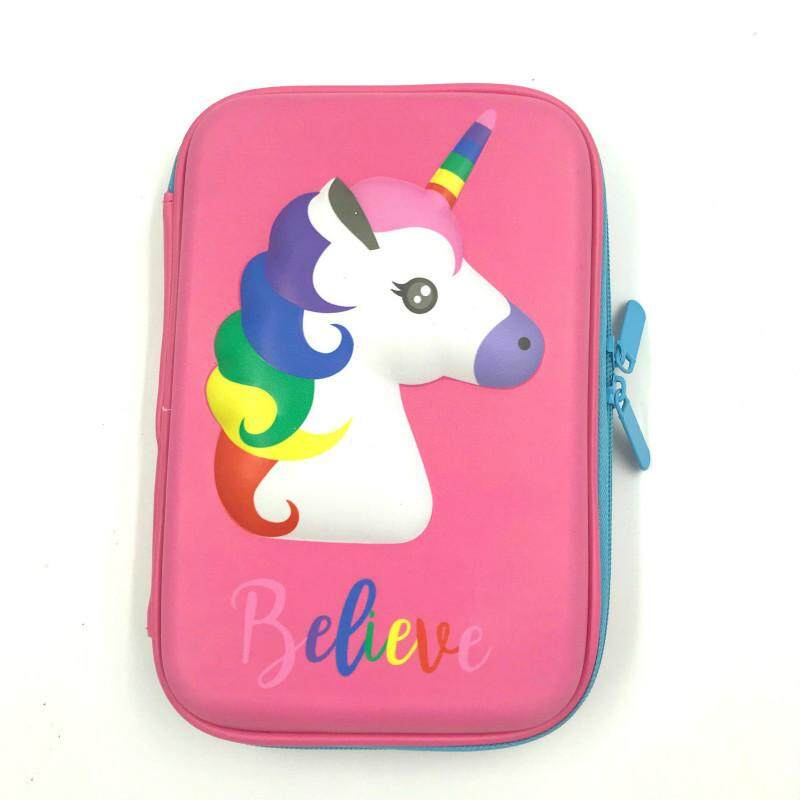 Smiggle Unicorn Pencil Case Kids Gift Stationery Pen Storage Bag Pen Stationary