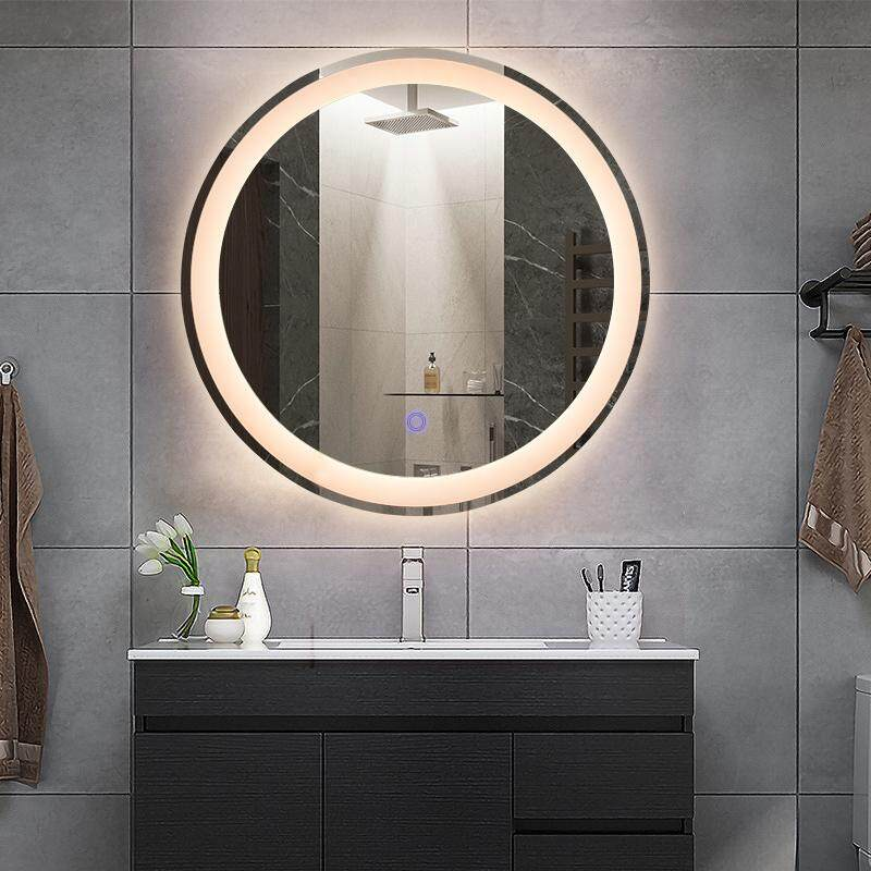 2019 led bathroom mirror factory modern style smart mirror waterproof wall mounted round bathroom mirror with Touch Sensor Swith