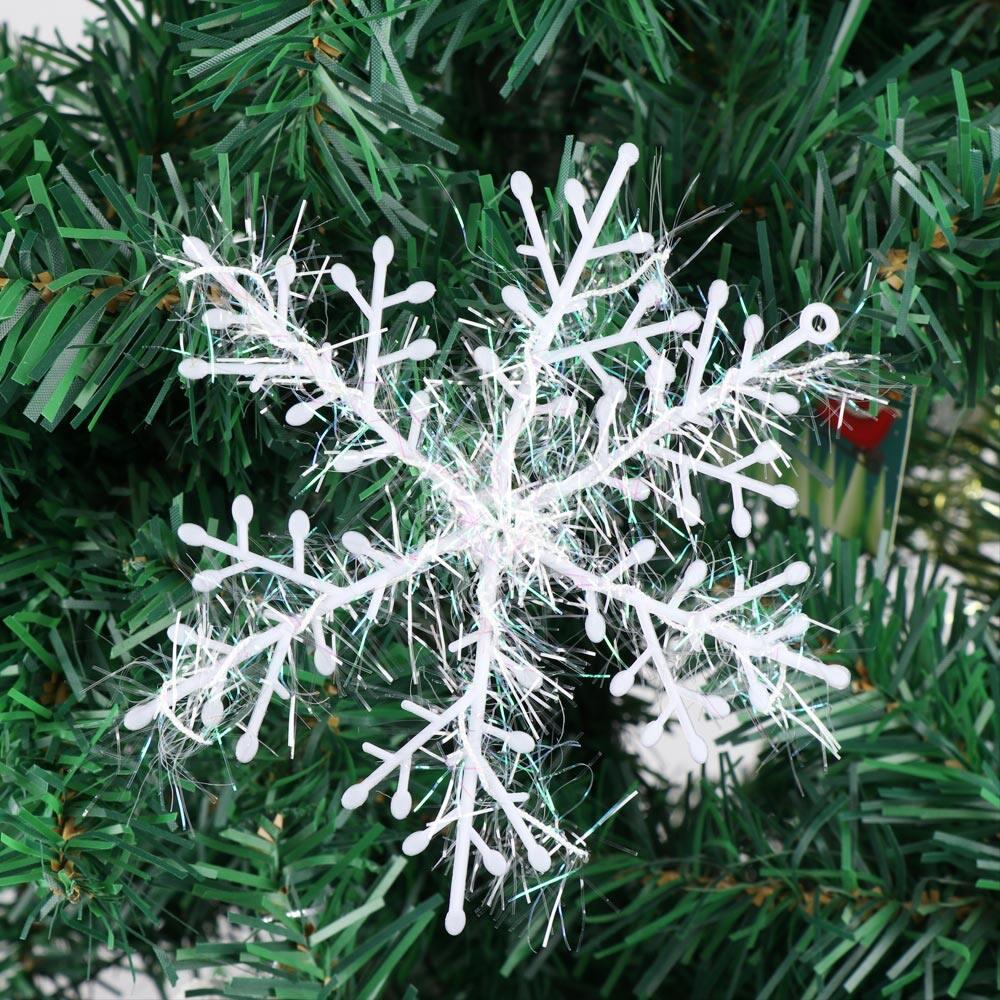 White Christmas Tree Pendant Snowflake Decorations Xmas Party Home Ornaments