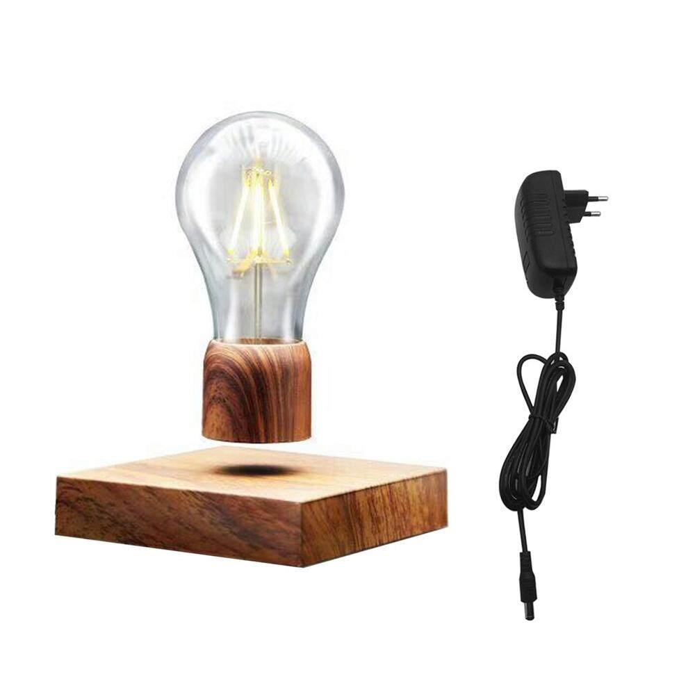 Bsex Fashion Retro Energy Saving Magnetic Floating Lighting Bulb 12V Wood LED Light Home Decor