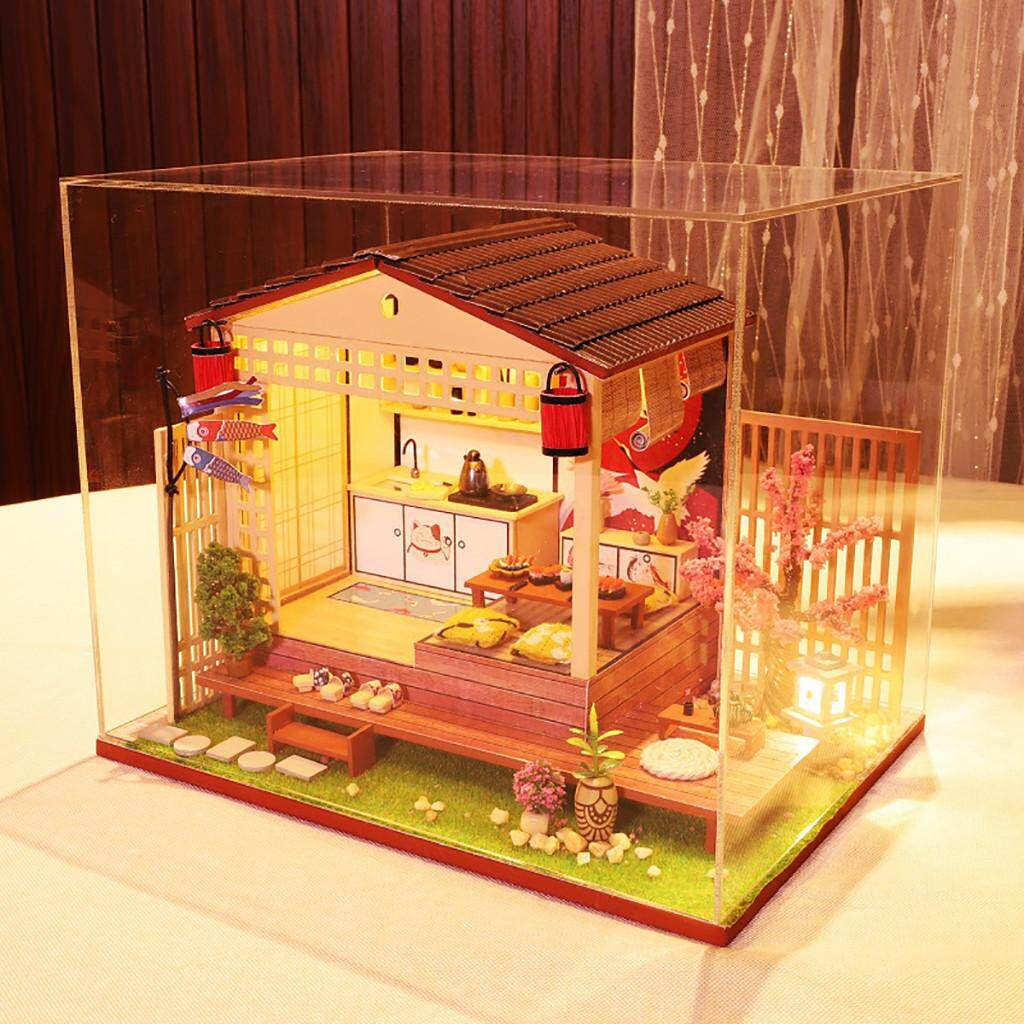 TENG 3D Wooden DIY Miniature House Furniture LED House Puzzle Decorate Creative Gifts