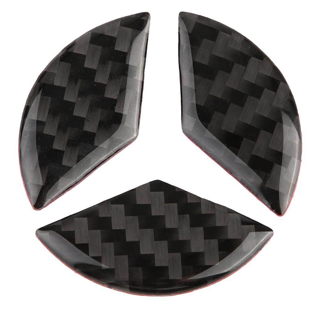 duoqiao 3pcs Steering Wheel Car Decor Logo Sticker Carbon Fiber for  Mercedes C Class W204 2005-2012