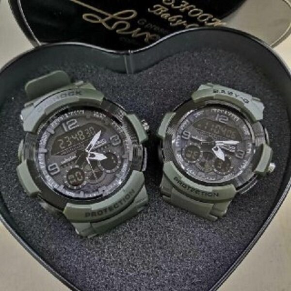 SPECIAL PROMOTI0N CASI0 G... SHOCK_PROTECTION DUAL TIME RUBBER STRAP WATCH SET FOR COUPLE Malaysia
