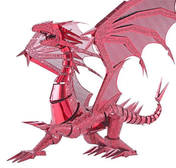 Piececool 3D Metal Puzzle Dragon Flame Dinosaur Assembly Metal Model Kit  DIY 3D Laser Cut Model Puzzle Toys for Adult Children Gift Original Design