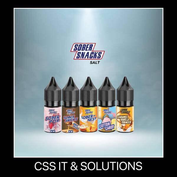 Sober Snacks Salt Premium Brew Cotton Candy / Caramel Vanilla Tbc / Sober Nest E-Juice 10ML Malaysia