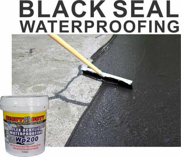 ( 1 kg ) BLACK SEAL 💦 Waterproof Heavy Duty ( wp200 ) Leak Seal Repair Paint Cracks Repair Leak Sealer