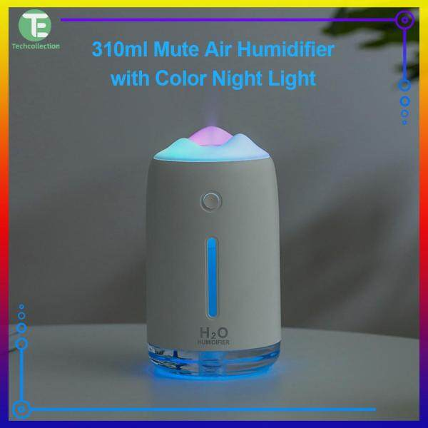 Professional 310ml Mute Air Humidifier Mist Maker Spray Diffuser Purifier with Night Light Singapore