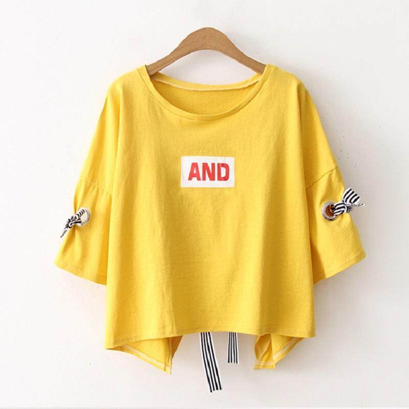 93aa1ef1e7a0 Cotton Crop Top T Shirt 2019 Summer New Arrivals Fashion Women Clothing  Korean Preppy Style Casual