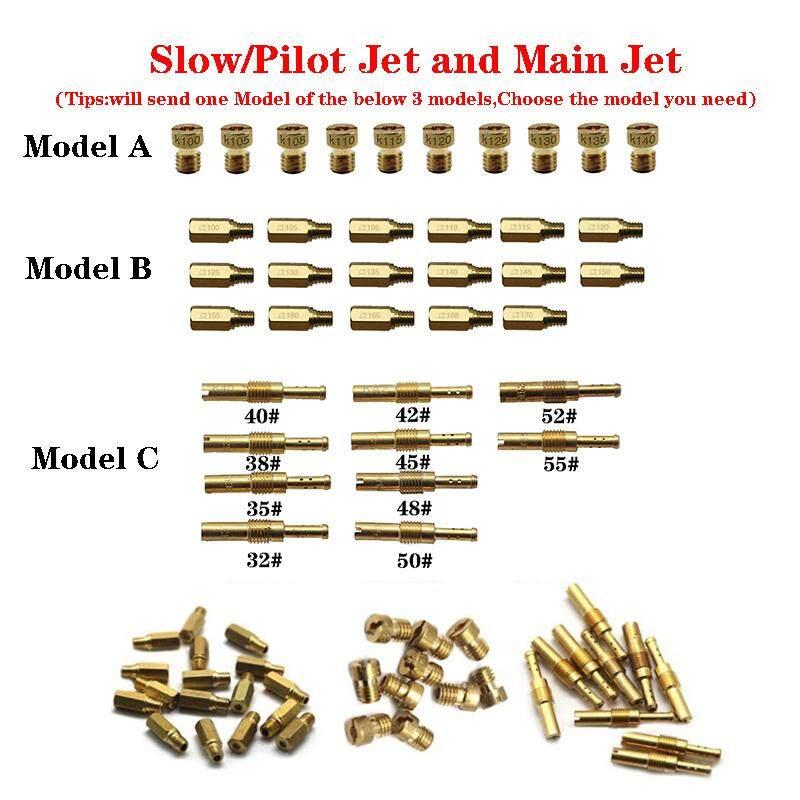 Model B-1 10PCS/Set Slow/Pilot Jet or Main Jet For PWK Keihin OKO CVK  Mikuni KOSO Motorcycle Carburetor Vice injectors Nozzle