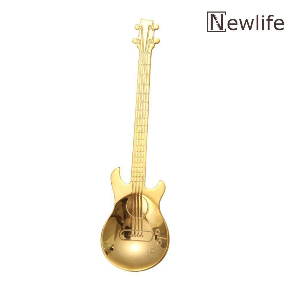 Newlifestyle Stainless Steel Guitar Shape Coffee Spoon Music Theme Tea Stirring Spoons By Newlifestyle.