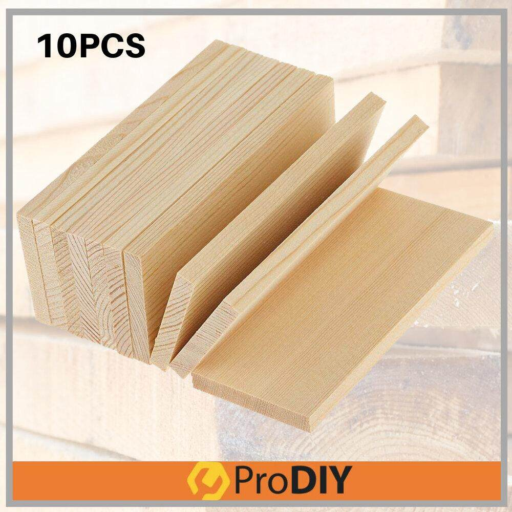 10Pcs 51.5cm x 9.5cm x 1.2cm w/out Nail Marks DIY Craft Pine Wood Plank Recond