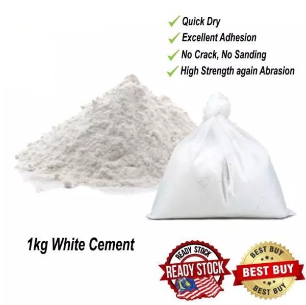 1KG Simen Putih / White cement / Gypsum Powder 白灰 / Plaster Wall / Plaster Ceiling / Small Gap Filling