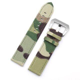 Da Watchband, Dây Đeo Đồng Hồ Vải Bố Rằn Ri 20Mm 22Mm Quân Sự Đồng Hồ, Vòng Đeo Tay Pulseira Phụ Kiện Đồng Hồ Nam thumbnail