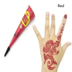 1 Piece Tato Henna India Paste 6 Warna Seni Tubuh Wanita Cat Gambar Sementara Alami Pigmen Tanaman Pasta Henna Kerucut Mehndi