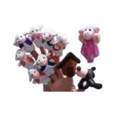 10-Piece Soft Animal Finger Puppets for The Wolf and the Seven Young Kids Children