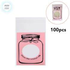 100pcs Plastic Candy Biscuit Cookies Packaging Bag Party Supplies (pink) By Minxin.