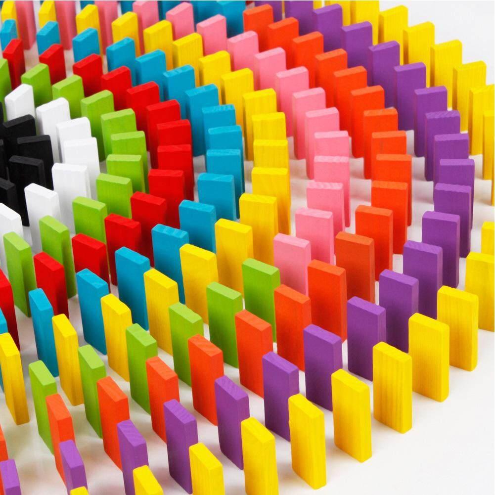 Buy Sell Cheapest Domino Set Best Quality Product Deals Saklar Model Thailand Dim Lumiparty 100 Pcs Rainbow Wooden Blocks Kids Game Pendidikan Mainkan Mainan Hadiah Natal Gaya