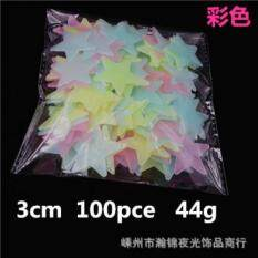 Good 100pcs Wall Decals Star Luminous Patch 3D Fluorescent Light Emitting Wall  Stickers Mixed Color