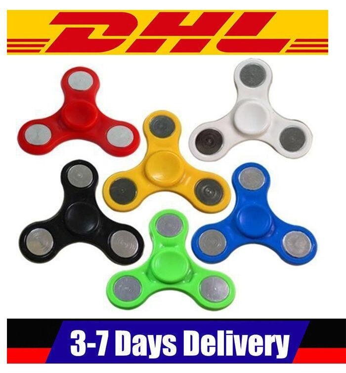 100pcs/Lots HAND SPINNER TRI FIDGET STEEL BALL DESK TOY EDC STOCKING STUFFER - intl