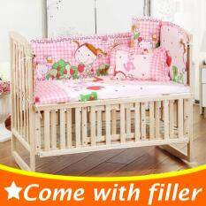 100x58cm 5pcs Set Little Girl Child Bedding Set Kids Crib Bedding Set Cartoon Baby Cot Bumper Cp01 By Nezababy.