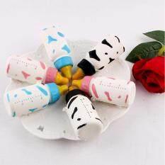 10cm Home Decoration Craft Miniatures Soft Spring PU Baby Cute Simulation Milk Bottle Model Random Color