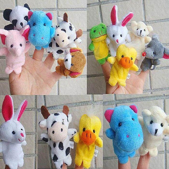 10pcs  Animal Finger Puppet Plush Child Baby Early Education Toys Gift