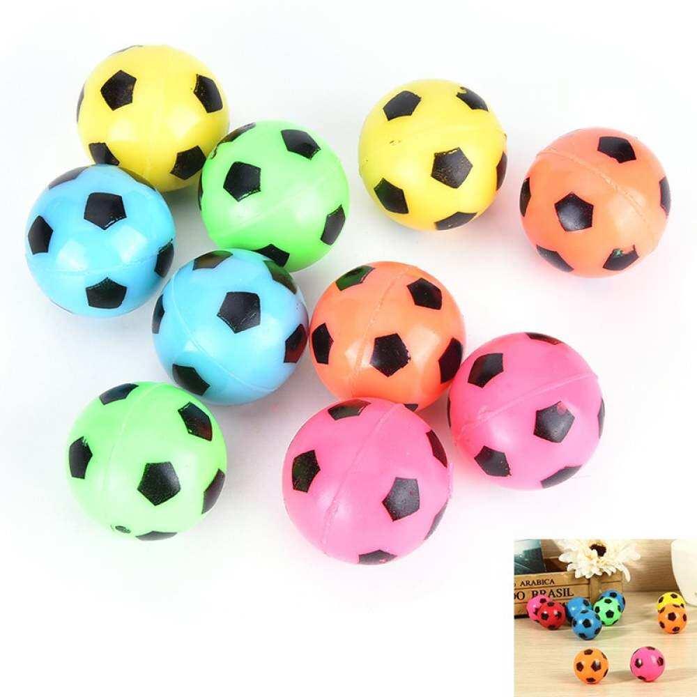 10 ชิ้น/เซ็ต Bouncing ฟุตบอลยางยืดหยุ่นกระโดดฟุตบอลของเล่นเด็กกลางแจ้ง By Aajqcqwf.