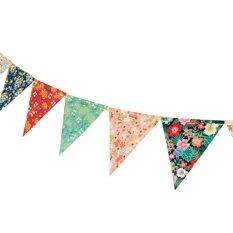12 Flags Bunga Kertas Bendera Vintage Lusuh Chic Pesta Pernikahan Ulang Tahun Dekorasi