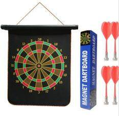 12in Double-sided Magnetic Dart Board With 4 Magnetic Darts