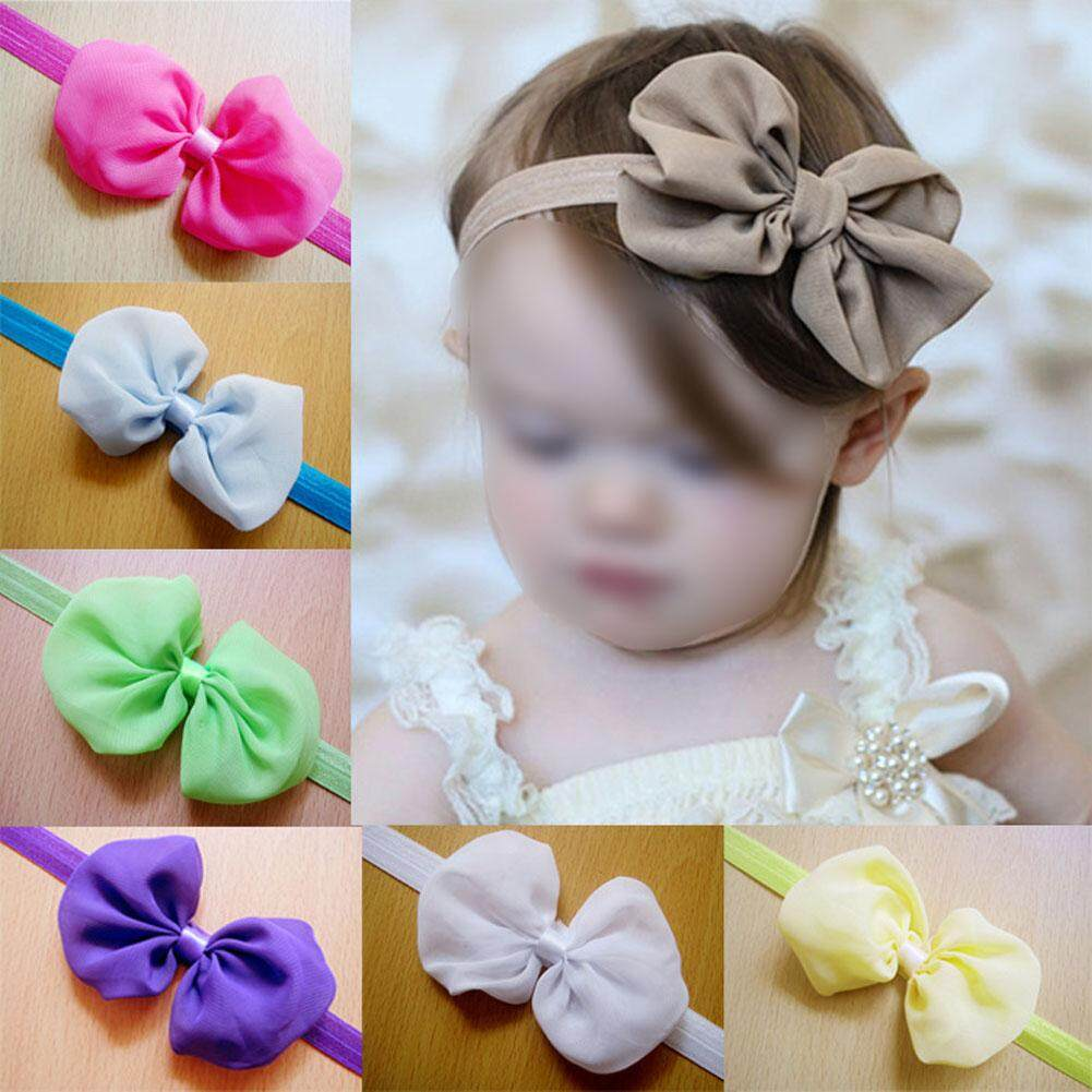 (fast Delivery In 3 Days,enjoy Free Shipping)12pcs Kid Baby Girl Toddler Cute Chiffon Bowknot Headband Hairband Headwear (my) By Crystalawaking.