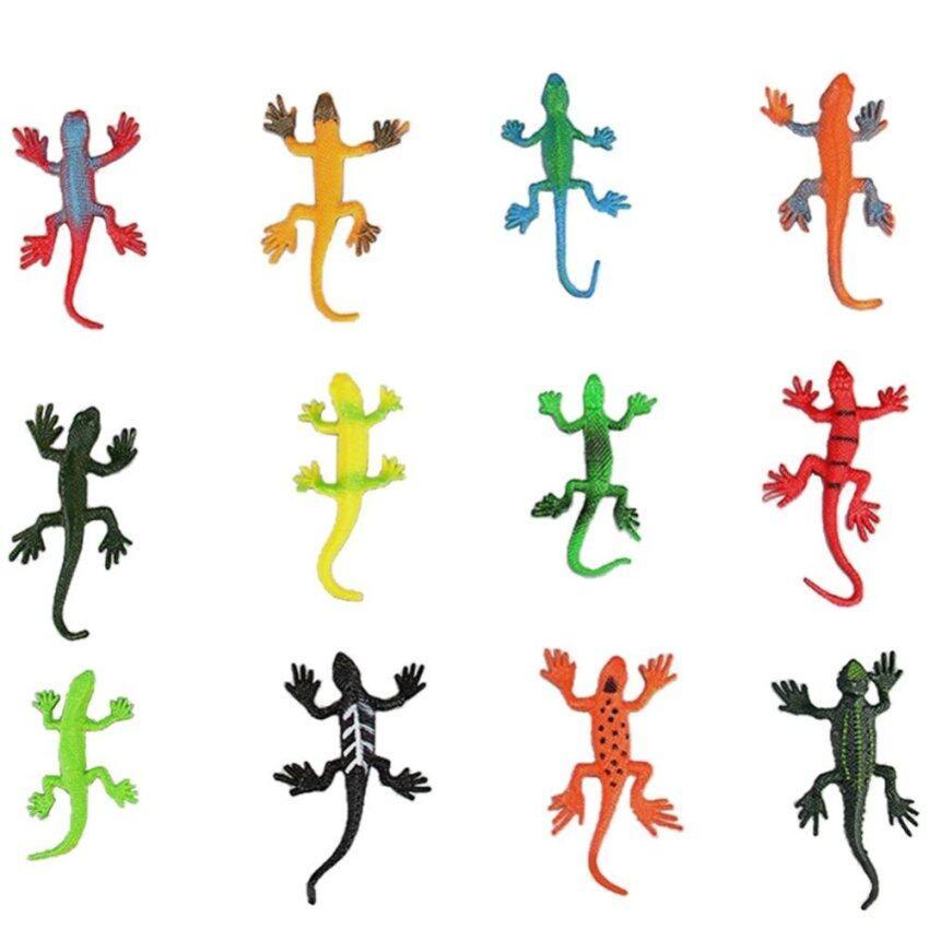 12pcs Mini Assorted Lizard Toys PVC Plastic Animal Figures Toy