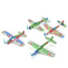 12pcs/Set Foam Glider Prop Flying Gliders Plane Aeroplane Kids Children Diy