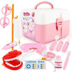 15pcs/set Doctor Series Pretend Play Set Children Simulation Dental Clinic Medical Kit Kids Educational Toy Color:pink By Star Mall.