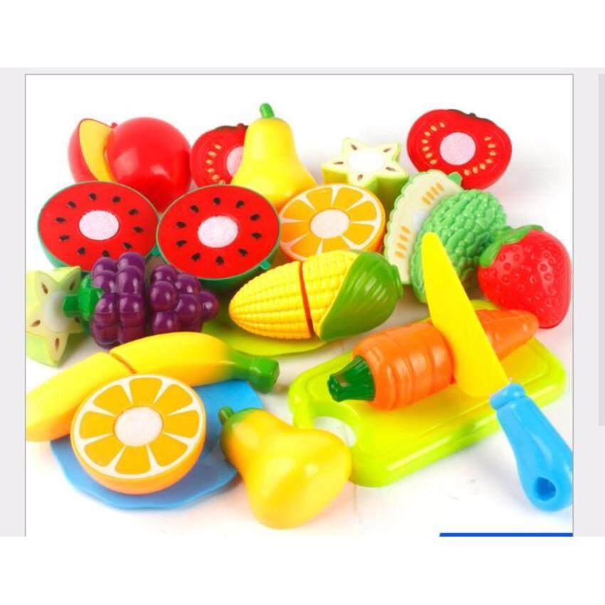 16 pcs  Kitchen Fun Cutting Fruits and Vegetables Food Play Toy Set for Kids Children