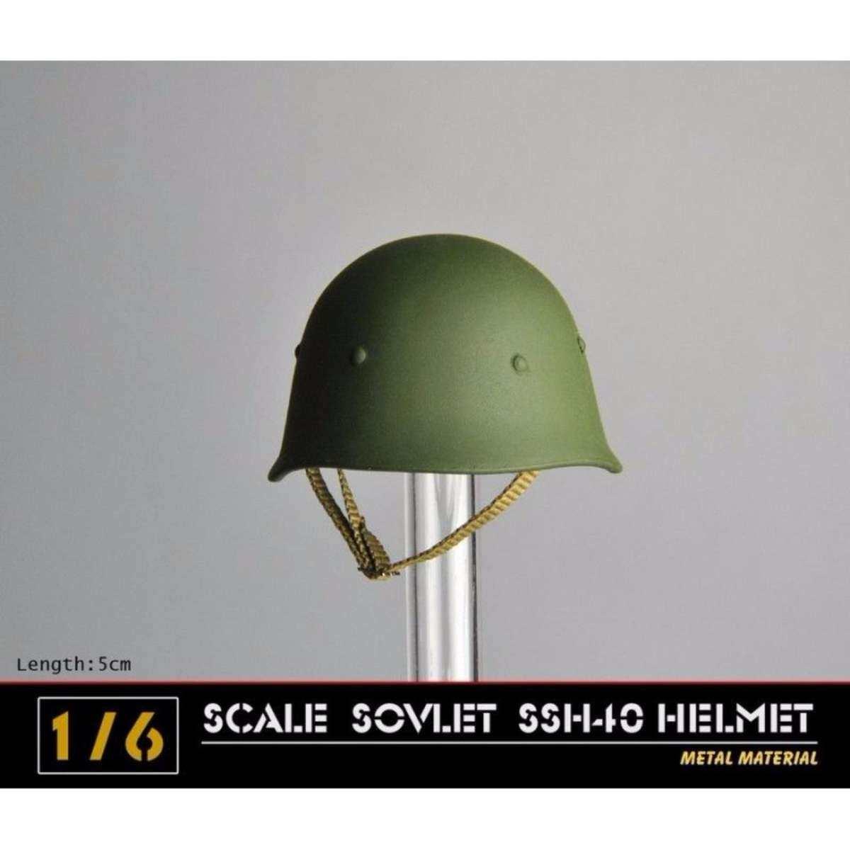 1/6 Perang Dunia II Soviet SSH40 Helm Logam Pria Topi Tentara Topi 12 & # X27 34 X27; Gambar