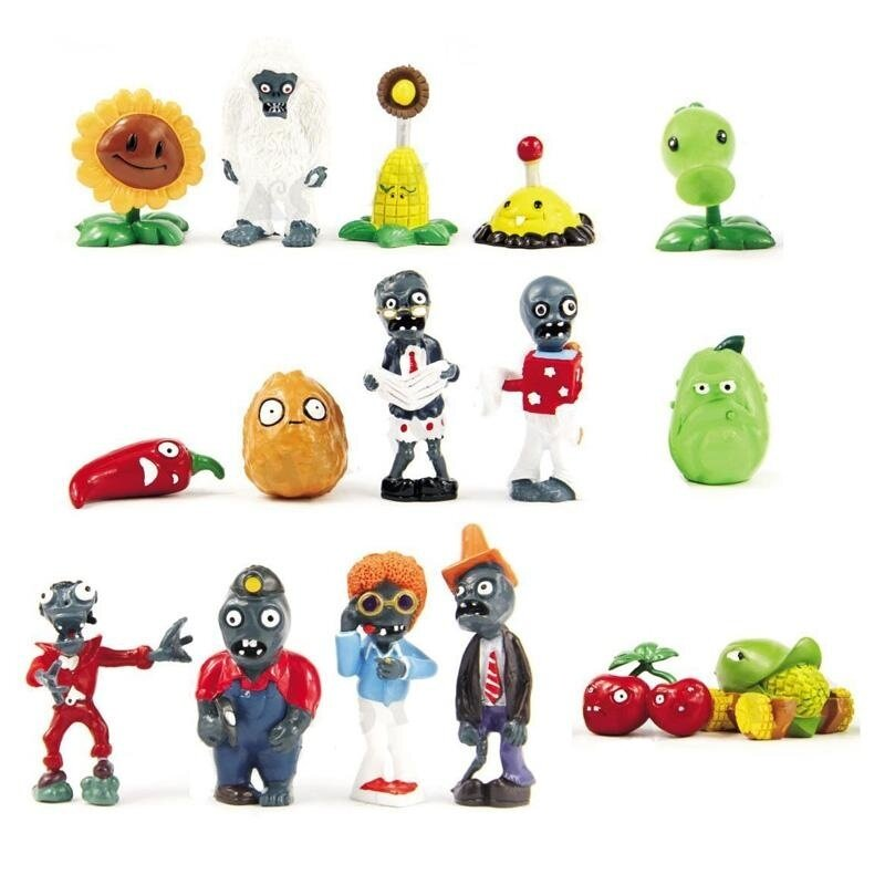 16pcs Plants Vs Zombies Series Game Role Figure Display toy