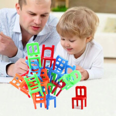 18x Plastic Balance Toy Stacking Chairs For Kids Desk Play Game Toys By Sportschannel.