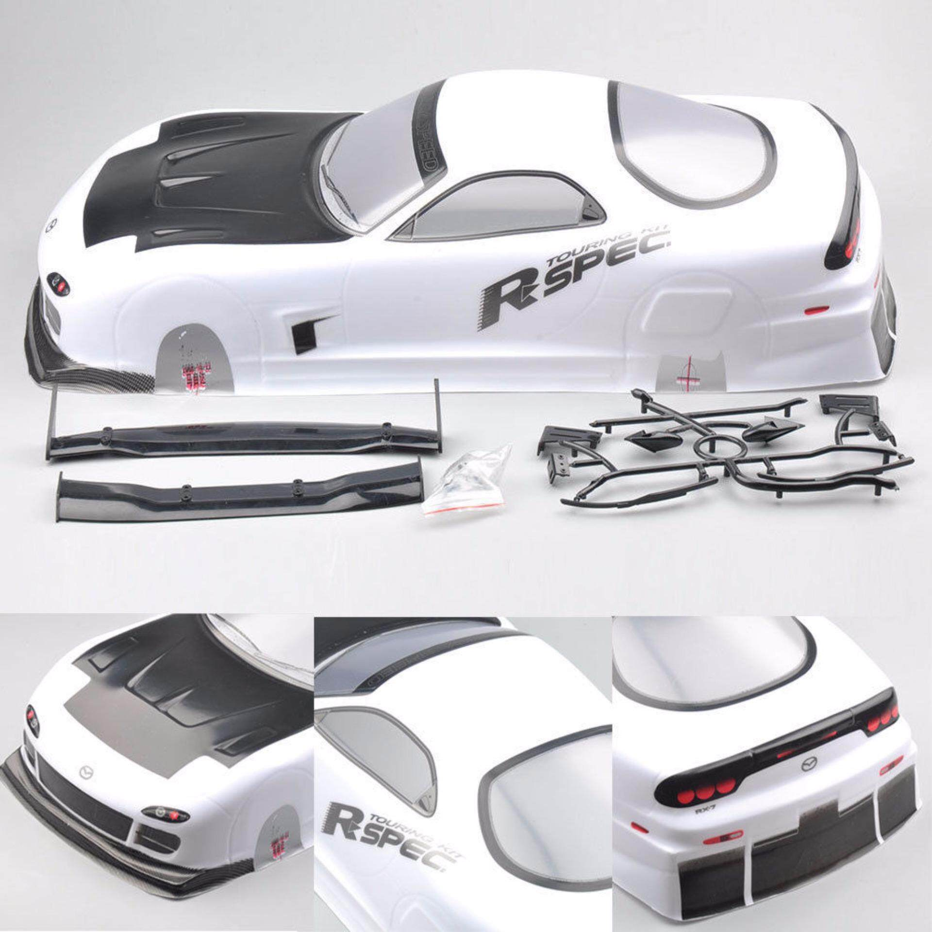 190mm Tamiya Body Shell Mazda RX-7 EP 016# For 1/10 RC On Road Drift Car W/Ring - intl
