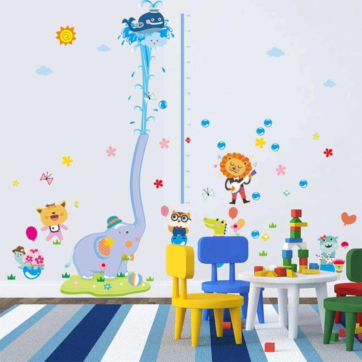 192 Cm X 165 Cm Grafik Pertumbuhan Anak-anak Tinggi Mengukur Stiker Dinding Besar Kualitas Baik Paster untuk Diy Anak & # X27; kamar S-Kartun Gajah Semprot ...