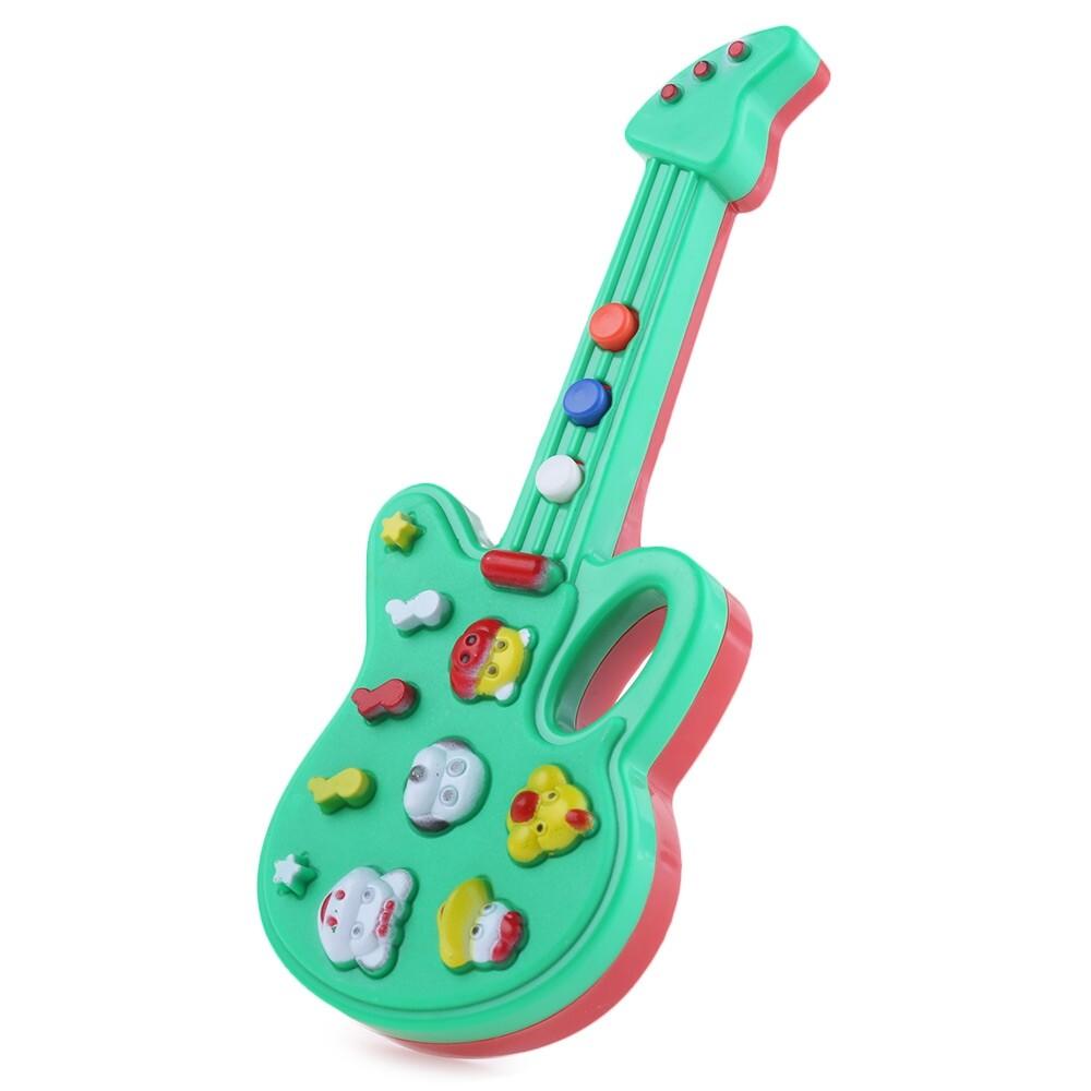 1 PC Tombol Binatang Gitar Elektronik Pendidikan Awal Mainan untuk Anak Anak-Internasional