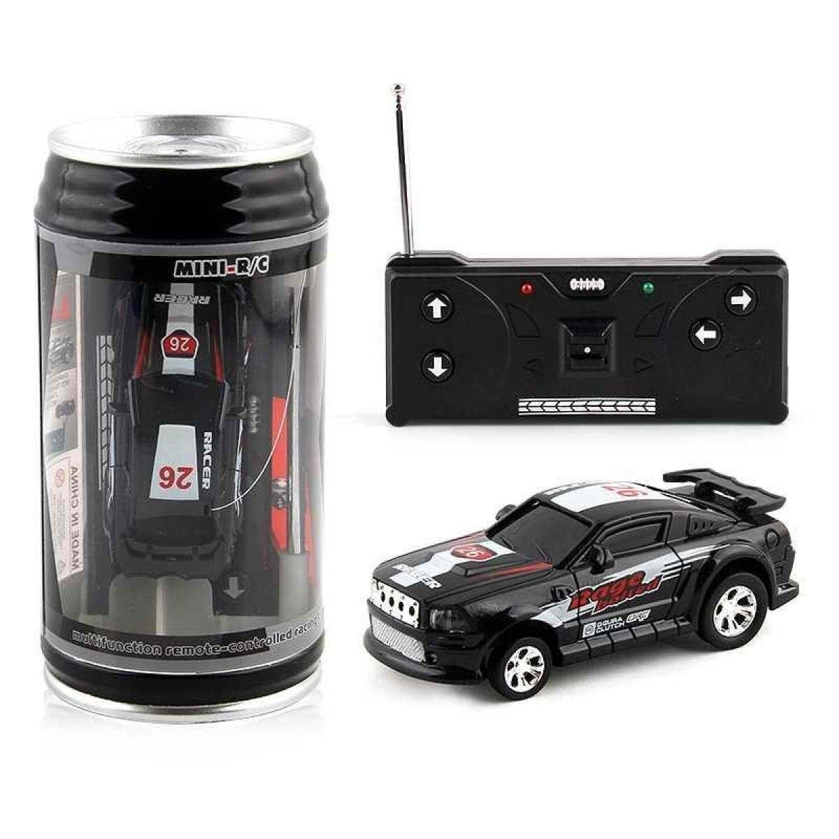 1pc Creative Coke Can Mini Car Plastic Shell Micro Racing Car Remote Control Multi-color