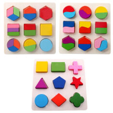 1pcs Kids Baby Wooden Geometry Block Puzzle Early Learning Educational Toy - Intl- By Comebuy88.