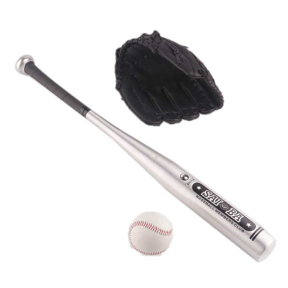 1set Aluminum Baseball Bat +glove +ball Kids Outdoor Inches Gift Hardball Toy 24 Play For Sport Kids By Hondaa.