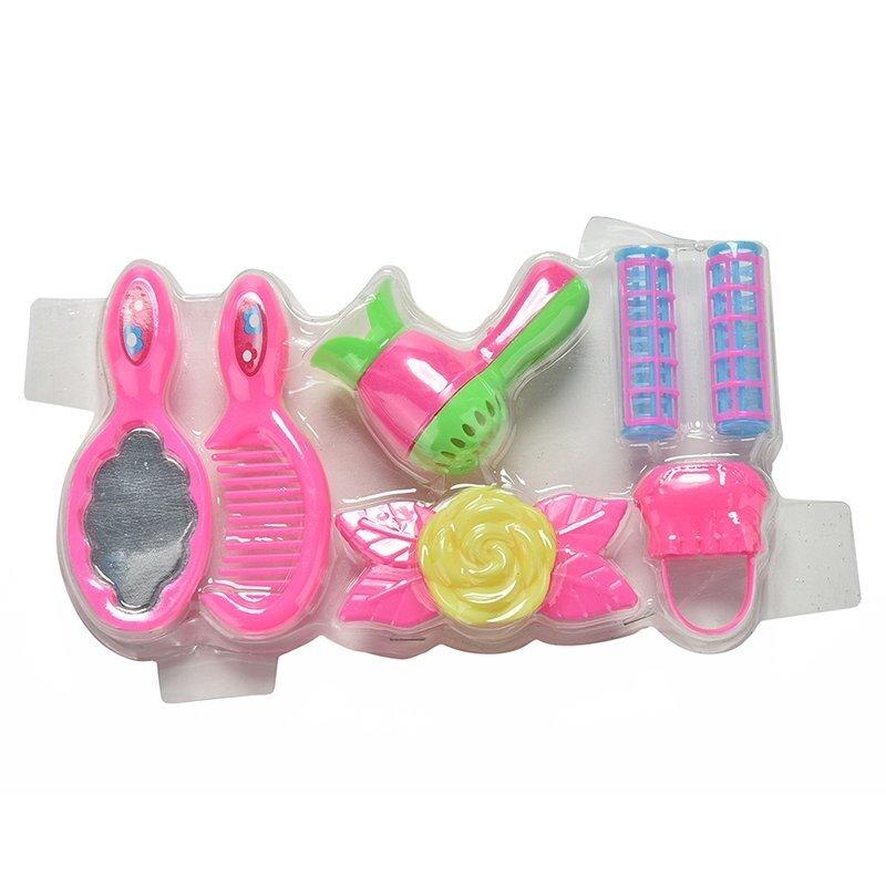 1 Set Blister Mainan untuk Barbie Plastik Hairpin Rambut Pengering Tongkat untuk Boneka Barbie-Internasional